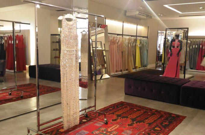 Setor de vestidos de luxo